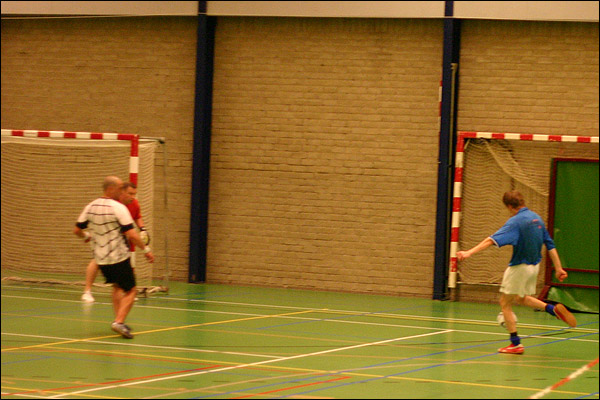 Goal Arjen de Jong in bekerfinale zaalvoetbal Zestienhoven H1 - Kralingen H8