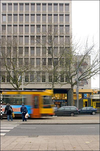 Tram op de Coolsingel