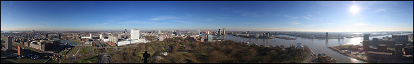 Panorama Rotterdam vanaf de Euromast