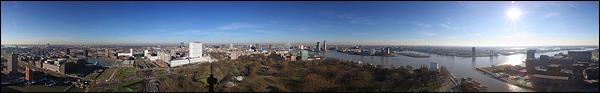 Panorama Rotterdam vanaf de Euromast