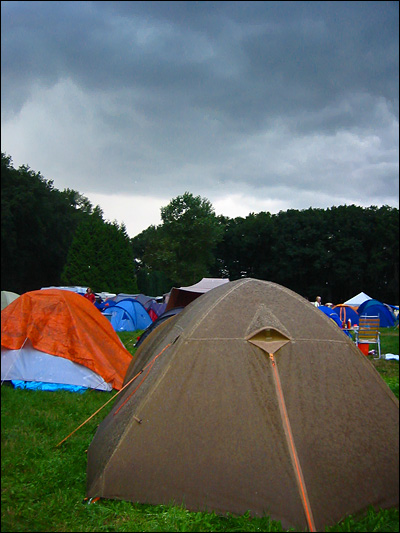 Foto regen Flevo Festival 2006
