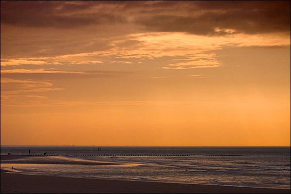 Zonsondergang op het strand van Haamstede