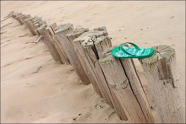 Palen op het strand van Burgh-Haamstede