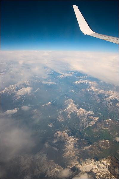 De Alpen vanuit een Boeing 737-800