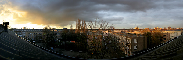 Mooie lucht panorama