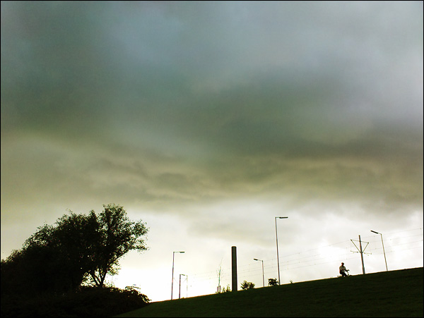 Dreigende lucht, Schiedamseweg Rotterdam