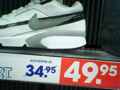 Actiesport, actieprijs: Kopen die schoen!