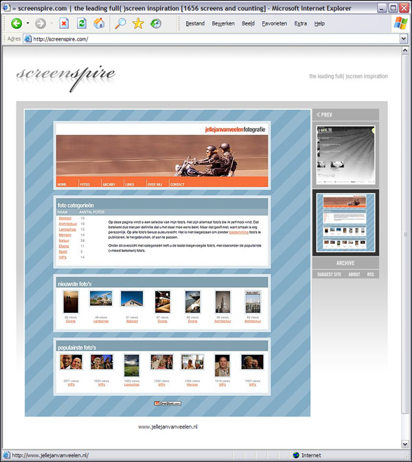 screenspire.com screenshot