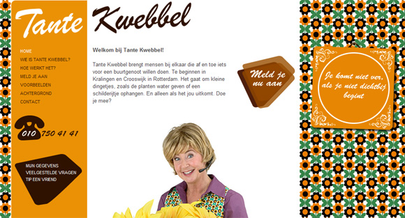 Tante Kwebbel website screenshot