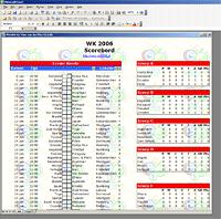 WK 2006 poule Excel spreadsheet