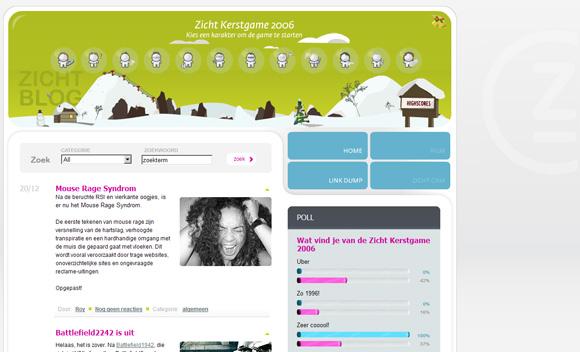 Zicht weblog screenshot