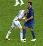 Kopstoot Zinedine Zidane Materazzi